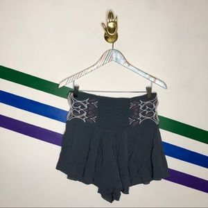 NEW Free People embroidered Cutout flowy Shorts